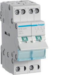01 - SFB225 - 3250615510808 Inversor Modular c/ponto zero, 2P 25A HAGER