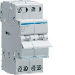 01 - SFT240 - 3250615510921 Inversor Modular c/ponto zero, 2P 40A HAGER