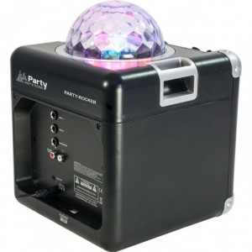"""15-2203PLS 4"""" - Coluna de som Bluetooth c/ efeito de iluminação LED RGB ASTRO 10cm/50W"""