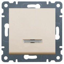 21 - WL0221- 8694407000347 lumina 2 Comut. escada c/sinaliz, creme HAGER