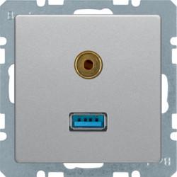 3315396084 - Q.x - USB / jack 3.5mm, alumínio BERKER EAN:4011334443759