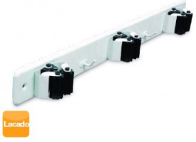 3803804 - 8433373038042 Aço triplo do suporte do freio com rolos de borracha - Bl.