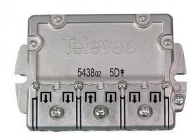 "543802 -8424450143742 TELEVES - Repartidor Interior (5-2400MHz) 5D ""Easy F"" 11dB DC"