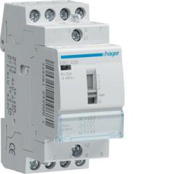 01 - ERC425 - 3250612400881 Contactor com manu 25A, 4NA, 230V HAGER
