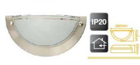 701939 - 8433373019393 Aplique a parede semicircular de alumínio E27 20W (60W)