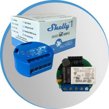 Shelly1 - Pequeno, inteligente e a opção de switch Wi-Fi mais poderoso para sua aplicação domótica.