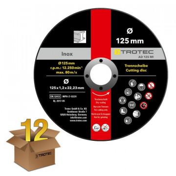 Disco de Rebarbar para Metal Inoxidável AD 125 MI - Pacote com 12 Unidades