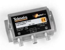 7485 -8424450074855 TELEVES - Amplificador de Linha FI 25dB Vs106dBµV c/passagem DC
