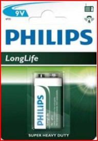 9000305 Pilha salina PHILIPS 9V Blister 1 un