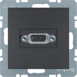 BERKER - 3315411606 - S.1/B.x - tomada VGA paraf., antrac mate 23