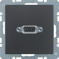 BERKER - 3315416086 - Q.x - tomada VGA paraf., antracite 23