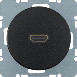 BERKER - 3315432045 - R.1/R.3 - tomada HDMI ficha 90º, preto 23