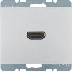 BERKER - 3315437003 - K.1/K.5 - tomada HDMI ficha 90º, alu lac 23