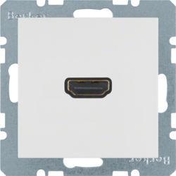 BERKER - 3315438989 - S.1/B.x - tomada HDMI ficha 90º, branco 23
