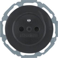 BERKER - 6765792045 - R.classic - tomada FR obtur., preto 23