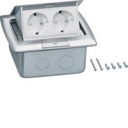 BSQ2R45E - Caixa de chão rectangular 2 Schuko inóx HAGER EAN:4012002249048