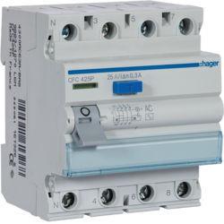 CFC425P - Inter. dif. 4P 25A 300 mA tipo AC 4 M HAGER