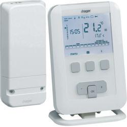 EK560 - Kit termóstato amb. prog. BASIC RF 7d HAGER EAN:3250612545605