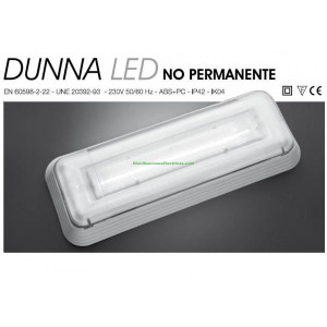 EMERGENCIA LED 30 LUMENES DUNNA D-30L 230V 0,4W NORMALUX