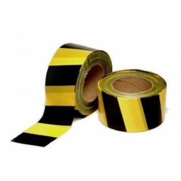 Equipamentos de Protecção - 6058 - Fita Sinalização Preta/Amarela 7cm Rolo 200mt