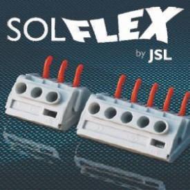 JSL Caixas Estanques Bucins e Ligadores SOLFLEX - Ligadores rápidos (conductores rígidos e flexíveis) -