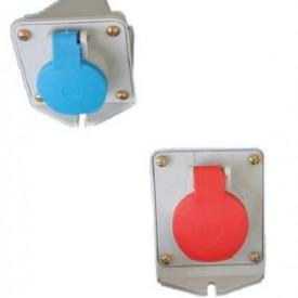 JSL Fichas e Tomadas Industriais Tomada Parede IP44 Cab 8 -13 mm2 / 16 amp -