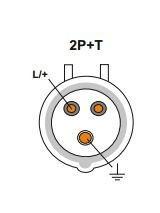 JSL - Tomada Industrial de encastrar em painel 16A  2P+T(E) IP44