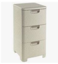 KETER CURVER 206314 Style Organizador 3 gavetas branco P(cm)37,8 A(cm)60 L(cm)32,8