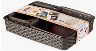 KETER CURVER 206738 Set de bandejas My Style A4+A5+A6 Chocolate P(cm)35,3 A(cm)6,5 L(cm)25,7