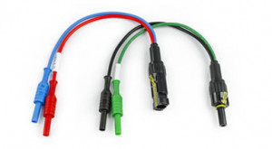 KITPVMC4 - HA000034 - Kit incluindo 2 adaptadores Multi-Contact 4 (bananas para conector macho MC4 / bananas para conector fêmea MC4) HT ITALIA