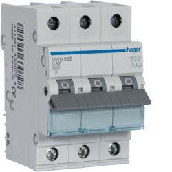 MWN332 - Disjuntor 3P 32A C 3kA 3 M HAGER