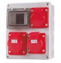 Quadro estanque IP44 IK08 para tomadas tipo Pimenteiro 4x63A Máximo