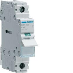 SBN163 - Interruptor Modular 1P 63A HAGER EAN:3250615510204