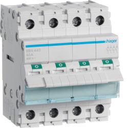 SBN440 - Interruptor Modular 4P 40A HAGER EAN:3250615510198
