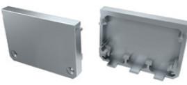 TP151 - Topo Plastic. Silver P/Perfil ILHAVO - Quant. fornecida = 1 un
