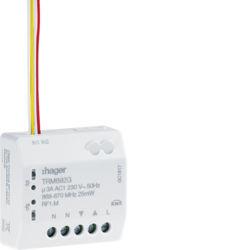 TRM692G - Micro módulo 2E + 1S estores RF HAGER EAN:3250615989031