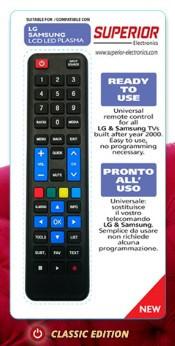 """TV comando – Superior """"Universal Substituir LG/SAMSUNG"""" pronto a usar"""