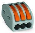 WAGO - Ligador compacto | até 0 4mm' | laranja / cinzento | 3 condutores { ref. 222-413