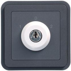 WNA037 - cubyko - Botão chave c/3 pos, cinzento HAGER EAN:3250617174374