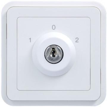 WNA037B - cubyko - Botão chave c/3 pos, branco HAGER EAN:3250617175371