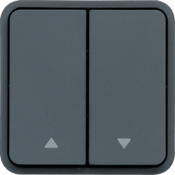 WNA300 - cubyko - Comutador duplo p/estores, cinz HAGER EAN:3250617174305