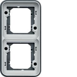 WNA408 - cubyko - Quadro x2 vertical, cinzento HAGER EAN:3250617174480