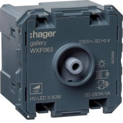 WXF063 - gallery 2M Variador universal de botão HAGER EAN:3250617192880