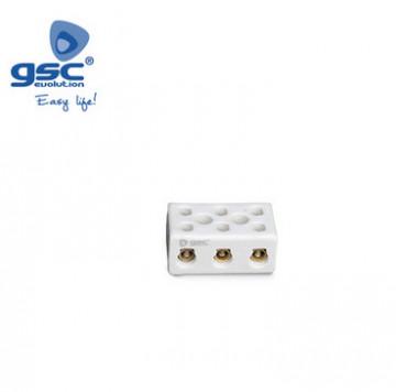 001000727 - Pacote de 3 tiras de conexão de cerâmica. 3 pólos 6mm2 10A 8436021947277