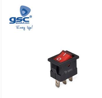 001105500 - 5u bolsa SPST ON / OFF interruptor com luz 6A-10 (4) A 8433373055001