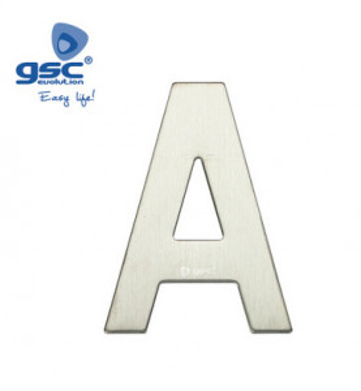 003302620 - Letra da porta A em aço inoxidável com adesivo 8433373026209