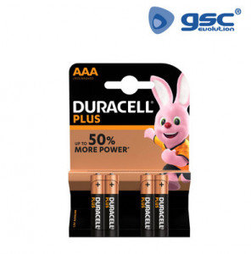 009000111 - Pilha alcalina DURACELL Plus LR03 (AAA), Blister 4 5000394018457