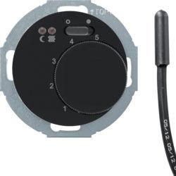 20342035 - R.classic - termóst.chão c/ON/OFF, preto BERKER EAN:4011334393542