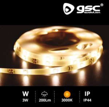 204020006 - Kit de tira LED 1,2M com sensor de movimento 3W 3000K