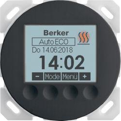 20462045 - R.x/R.c - termóst.ambiente progrm, preto BERKER EAN:4011334502982